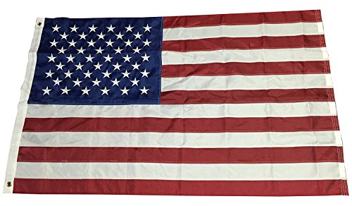 3ft X 5ft American Flag, USA Flag, Embroidered Stars - Durab