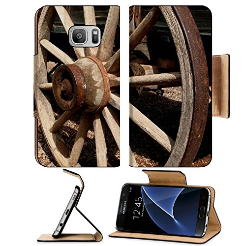 liili-premium-samsung-galaxy-s7-flip-pu-leather-wallet-case-antique-wooden-stagecoach-wheel-photo-23