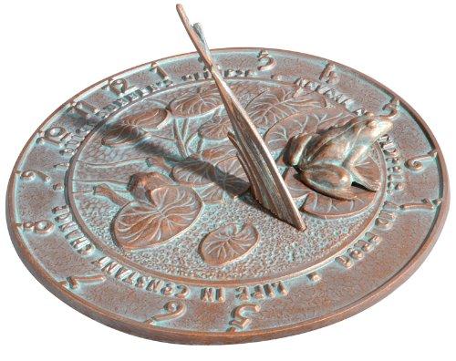 Sun Clock Sundial Verdigris - 1