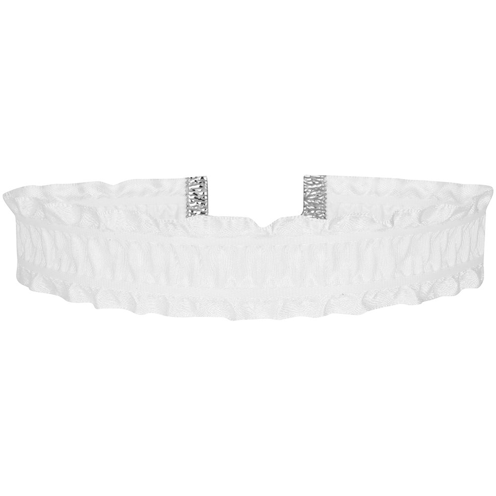 Twilight's Fancy 1 inch Gathered Ruffles Satin Choker Necklace (White, Small)