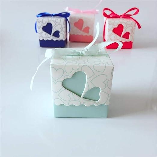 GIFTLIPHZ 10pcs / Lot DIY Caja del Caramelo Hermosa con la Cinta Favor de la Boda Cajas de Regalo de cumpleaños Amores Caja Linda Sky Blue: Amazon.es: Hogar