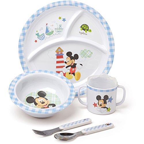 Disney Baby Mickey Mouse BPA-Free Kids 5-Piece Melamine Dinnerware (Apple Chutney Recipe)