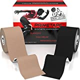 "Product review for Nordic Lifting Kinesiology Tape (2-Pack) PrimeTape - Pro Sports & Athletic Taping for Knee, Shin Splints, Shoulder and Muscle - 2"" X 16.4' per Roll Uncut - Orthopedic Therapy Method - by trade;"