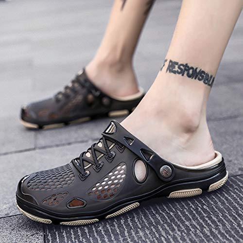 Respirantes Noires De Llttklthj Chaussons Sandales Légères Sport Et 37 Pour Plage Antidérapantes Hommes Chaussures Pantoufles FrrzWwnq
