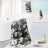 SCOCICI1588 simple luxury superior bath towel setSkull of the Dead Catholic Butterfly Rose Flower Holi CultureforHotels,Home, Bathrooms 13.8''x13.8''-11.8''x27.6''-27.6''x55.2''