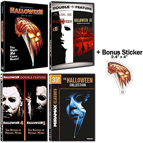 Halloween: Complete 8 Movie DVD Collection with Bonus Sticker -