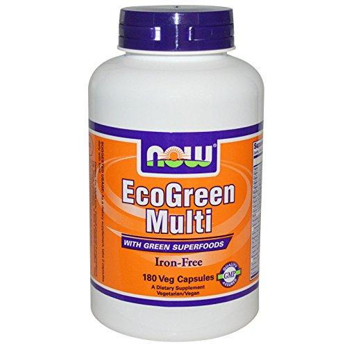 EcoGreen Multi Vitamin Iron Free 180 VegiCaps (Pack of 2)