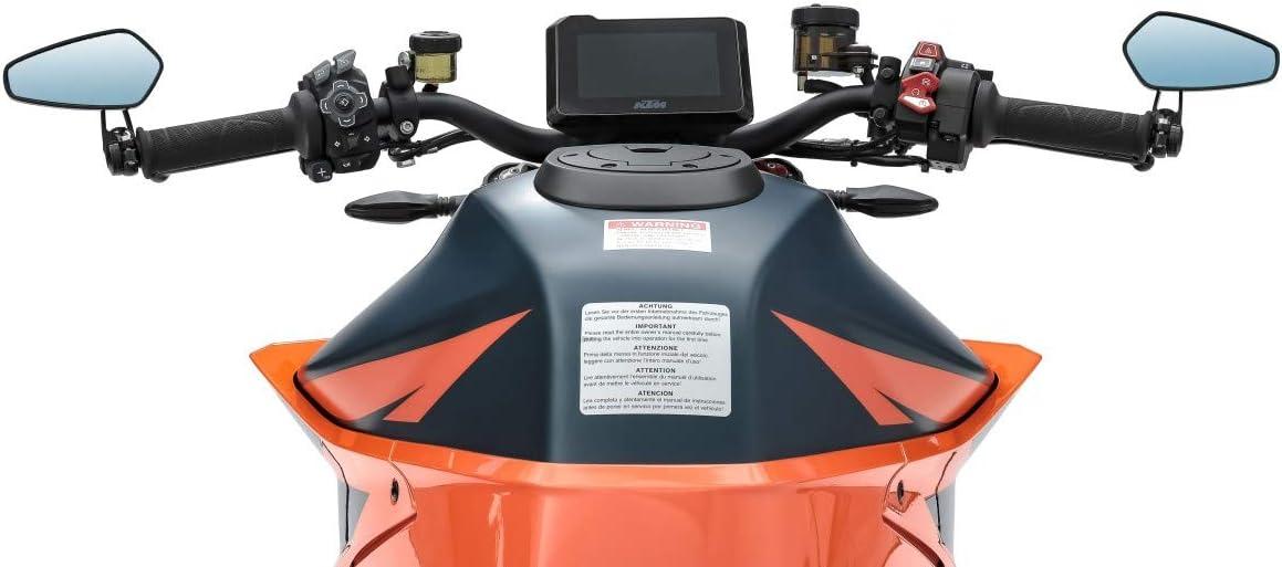 SR 400//500 schwarz Lenkerendenspiegel LS6 Yamaha FZ6// Fazer// S2