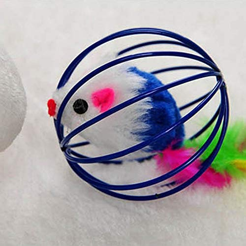 Amazon.com : Best Quality cat Toys Hollow Ball Feather Mouse Toys for Cats Kitten Playing Funny mice Mouse Toys pet Animals Interactive Products Balls : Pet ...