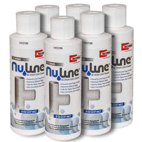 FAST SHIPPING! (6)-Pack NuLine HVAC Condensate Nu-Line Drain Cleaner , 8 ounce by Rectorseal