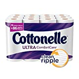 Cottonelle Ultra ComfortCare Toilet Paper with CleanRipple Texture is the softest, thickest and most absorbent Cottonelle Bath Tissue ever. The cushiony-soft CleanRipple Texture is designed to clean better per sheet versus the leading nationa...