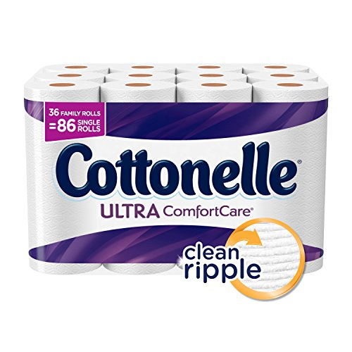 Cottonelle Ultra Comfort Care Family Roll Toilet Paper, Bath Tissue, 36 Toilet Paper Rolls