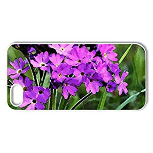 Purple - Case Cover for iPhone 5 and 5S (Flowers Series, Watercolor style, White)
