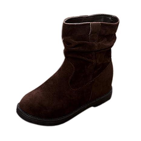 Botas, DoraMe Botines cuña para mujer Botas planas de tobillo Zapatos plataforma para damas (