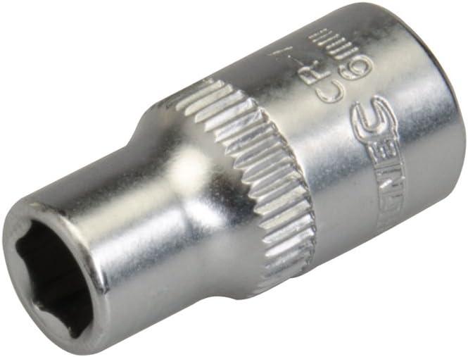 metrisch Silverline 657259 Steckschl/üsseleinsatz 1//4-Zoll-Antrieb 6 mm