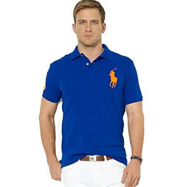 Ralph Lauren Polo para Hombre Big Pony Slim FIT (XL, Azul): Amazon ...