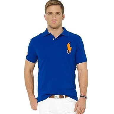 161bc6385adc5d Ralph Lauren Herren Poloshirt Big Pony Slim Fit  Amazon.de  Bekleidung
