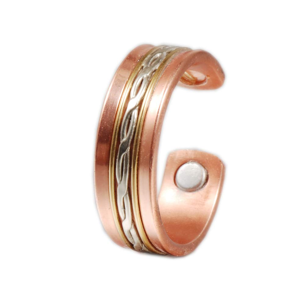 Wollet Jewelry Magnetic Copper Ring for Arthritis for Women (Men)