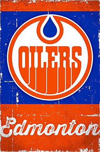 Trends International Edmonton Oilers Retro Logo Wall Poster