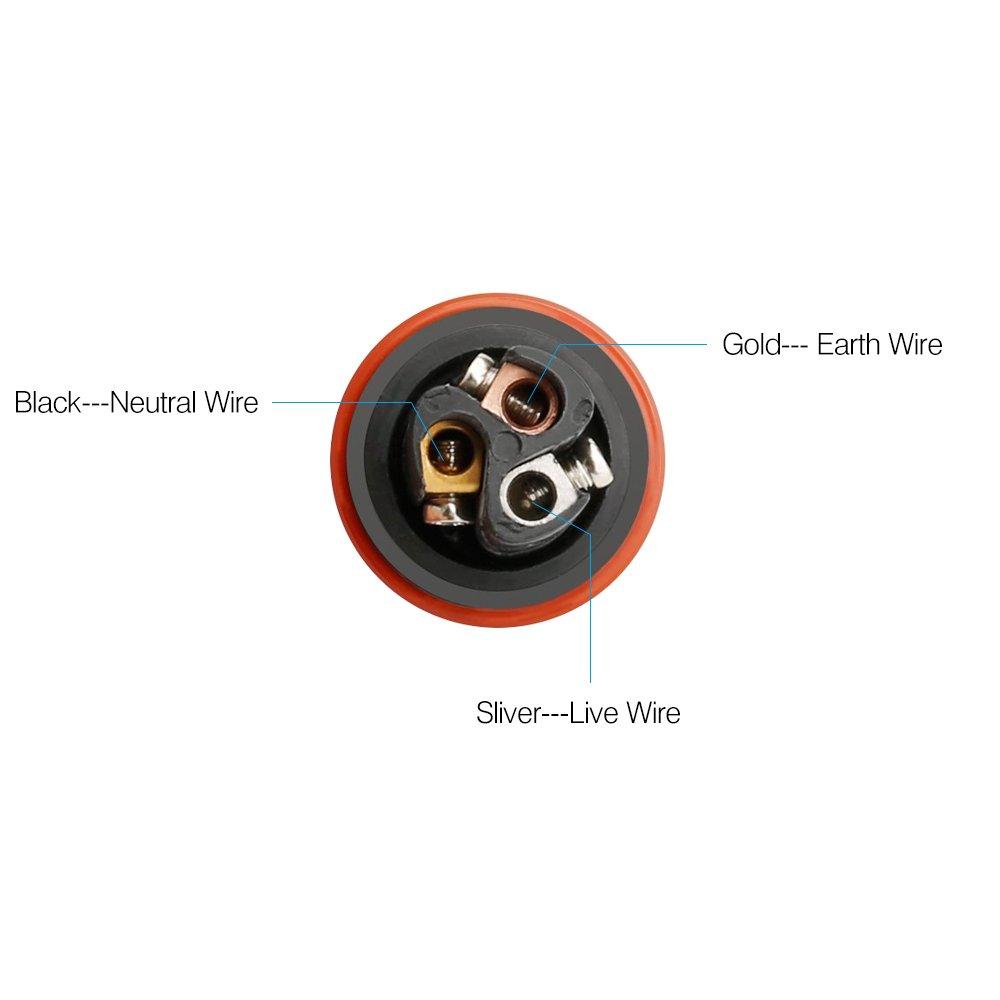 Connecteur de c/âble de bo/îte de jonction /électrique r/ésistant aux intemp/éries ANSCHE Bo/îtier de raccordement Externe//Externe Raccord de c/âble Accouplement /à Manchon /Ø5mm-10mm 2 p/ôles, IP67,