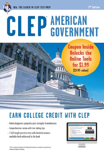 CLEP American Government w/ Online Practice Exams (CLEP Test Preparation) (Clep Western)