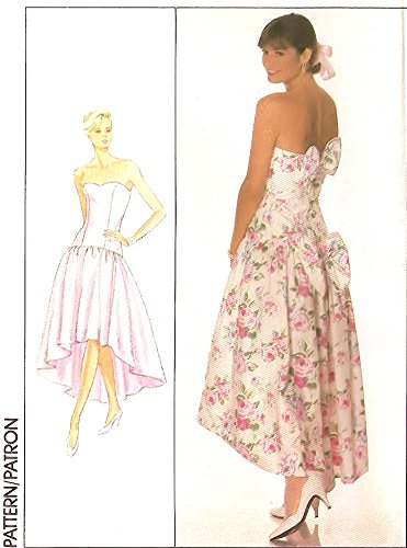 Simplicity vintage 1980s sewing pattern 9011 dropped waist occasion / prom dress (12)