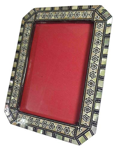 Egyptian Handmade Mosaic Inlaid Mother of Pearl Wood Wooden 6.3