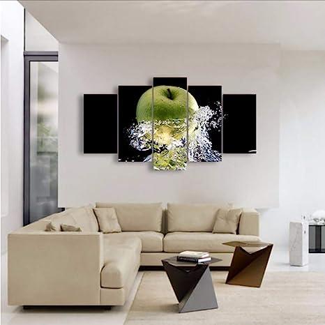 Fyyanm Decor Canvas Poster Pittura per Soggiorno 5 Pezzi/Pezzi Verde ...