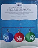 Set of 3 - 2Ft. Tall Inflatable Lighted Ornaments