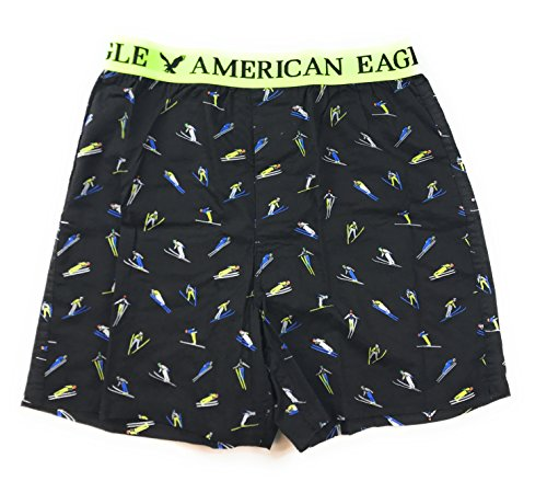 American Eagle Men's Boxer BX (Black Ski BX-7, Medium)