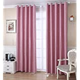 """Countrycurtains Insulated Star Print Blackout Curtains Bedroom Top Eyelet 54""""x84"""" 1 panelPink"""