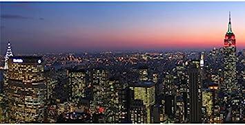 Bn0262 Manhattan Skyline New York City Banner Flag Sign Office Products Amazon Com