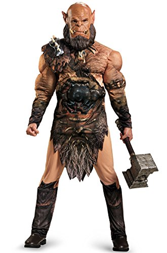 (Disguise Men's Warcraft Orgrim Deluxe Muscle Costume, Multi,)