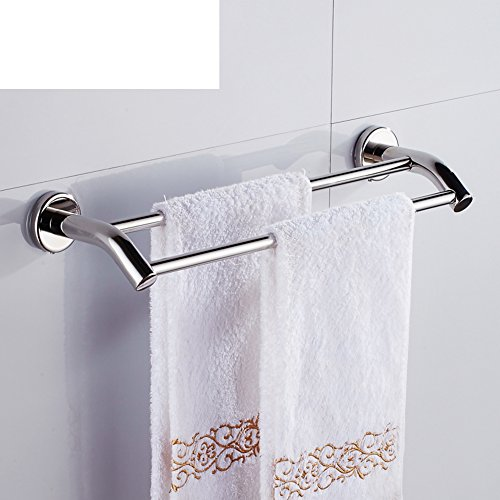 durable modeling Stainless steel Towel Bar/Double Towel Bar/The bathroom Towel rack/Bathroom Towel rack/wall-mounted metal pendants-H