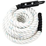 1.5-inch White Poly Dac Gym Climbing Rope by Crown Sporting Goods (30')