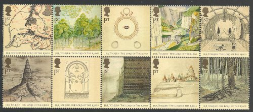 British Postage Stamps - GB 2004 Lord of the Rings Mint Stamp Set of 10
