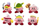 Little Buddy Set of 6 Kirby Adventure Stuffed Plushes - 1324 Ninja/1317 Sword/1321 Hammer/1327 Fighter/1320 Wing/1318 Cupid