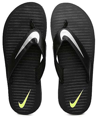 Nike Men's Black/Chrome-Volt-Cool Grey Chroma Thong 5 Flip Flops (833808-007)