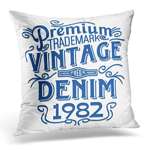 Covers Graphic Vintage Denim Retro Old Decorative Pillow Case Home Decor Square 20