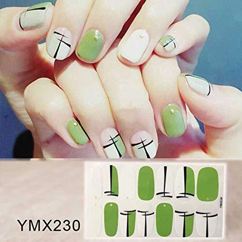 Tips Nail Art Full Cover Self Adhesive Stickers Polish Foil Transfer Tips Wraps 3D Waterproof Nail Stickers Decals Manicure 14