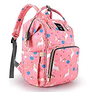 VIHAAN™ Mother Bag/Diaper Bag/Mother Backpack/Stylish/Multifunctional/Maternity Bag/Mother and Baby Travel Bag (Pink)