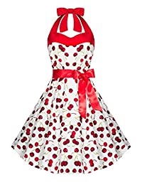 iLover Women Vintage Dresses Polka Dots 50s Rockabilly Wiggle Party Dress
