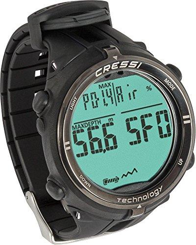 Cressi Dekompressionstauchcomputer Newton Titanium Watch, Schwarz, KS800055