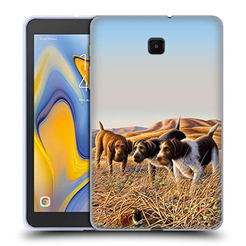 Wildlife Trio - Official Chuck Black The Perfect Trio Wildlife and Animals Soft Gel Case Compatible for Galaxy Tab A 8.0 (2018)