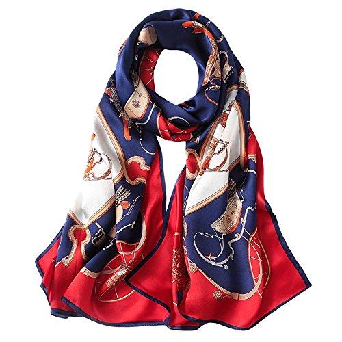 Impression Soie Echarpe Chale En Longue Foulard Coloré All Anti Ete Grand Uv 5 Rouge Femme Hiver Ipzaax