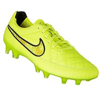 Nike Tiempo Legend V FG Botines De Fútbol - Volt/Hyper Puñetazo Negro (7.5): Amazon.es: Deportes y aire libre