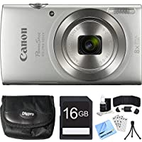 Canon PowerShot ELPH 180 20MP HD Silver Digital Camera...