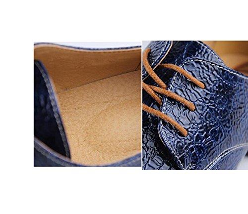 Morbido Casual Rotonda Punta A Bean Scarpe Business Scarpe Pigro Fondo Uomo Rete da Oxford Scarpe Traspiranti da Blue wawr7xqO