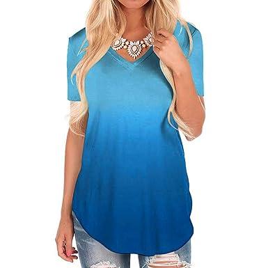 best loved best deals on shop best sellers T-Shirt à Manches Courtes - Vetement Femme Pas Cher a la Mode Coton Tee  T-Shirt à Manche Courte Femmes Top Sweat Chemise Noir ado Fille Vest Gilet