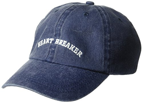 NYC Underground Women's Mineral-Washed Baseball Cap with Verbiage, Navy, One Size